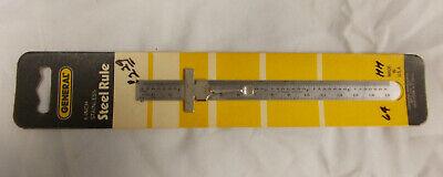 General Tools 6 Stainless Steel Rule Machinist Mechanics Tool Usa Vintage