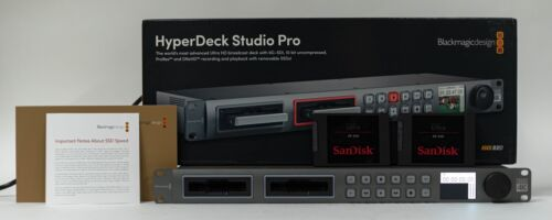 Blackmagic Design HyperDeck Studio Pro 2 File-Based Deck with Box