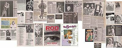 ROD STEWART : CUTTINGS COLLECTION -1980s- interview adverts