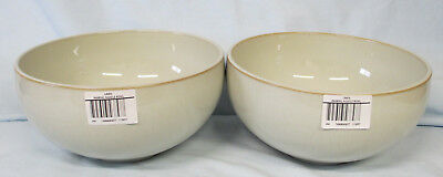 Denby Linen Ramen or Noodle Bowl New with Tags Set of 2