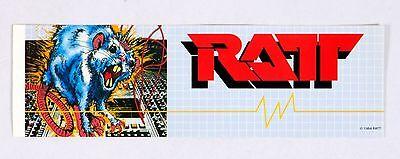 "RATT 1984 Vintage Sticker Decal 11.5"" x 3.5"""