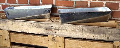 2er Set Metall Pflanztopf für Europaletten Palettendeko Gartendeko Zink