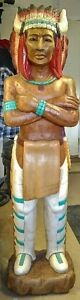 6' Cigar store Native American Folk art statue like new NO Marks