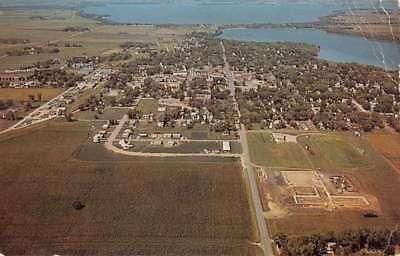 Spirit Lake Iowa Birdseye View Of City Vintage Postcard K72167