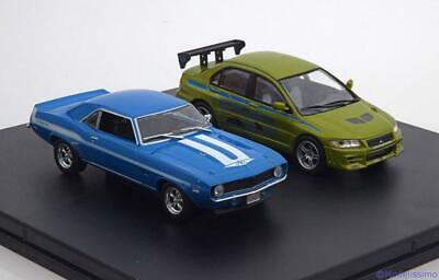 GREENLIGHT Mitsubishi Chevrolet FAST & 2 FURIOUS Set of 2 cars 2003 1:43 86253
