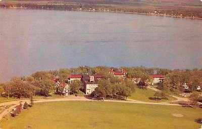 Spirit Lake Iowa Templar Park Birdseye View Vintage Postcard K57500