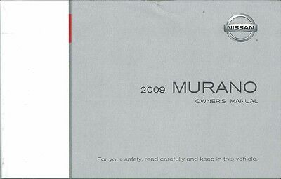 2009 Nissan Murano Owners Manual User Guide Reference Operator Book