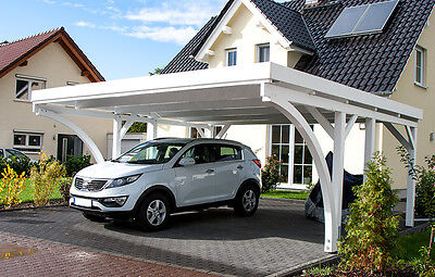 Carport 6x6 m Fichte inkl. 2 Leimholzbögen ca. 610x600 cm DIREKT VOM HERSTELLER!