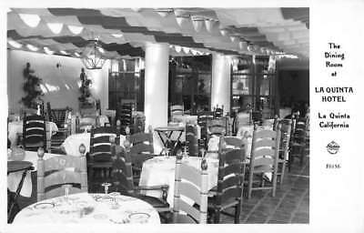 La Quinta California Hotel Dining Room Real Photo Antique Postcard K87370 for sale  Shipping to Canada