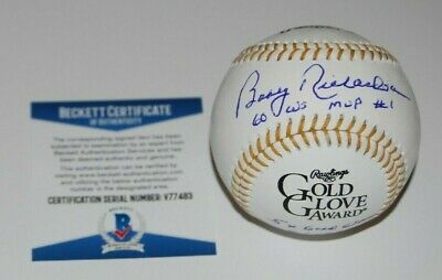 BOBBY RICHARDSON signed (NEW YORK YANKEES) GOLD GLOVE baseball BECKETT V77483