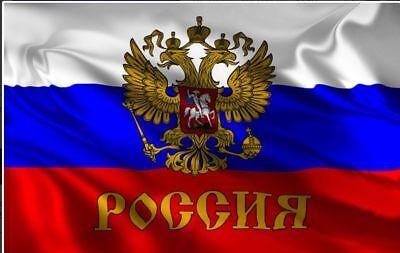 Fahne Russland mit Wappen Flagge Doppelkopf Adler russische Hissflagge 90x150cm