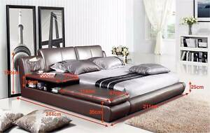 【Brand New】Full Leather King Size Bed-Extra Bedside Storage and S Nunawading Whitehorse Area Preview