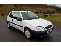 2001 CITROEN SAXO 1.1i FIRST 3DR WHITE ONLY 42K MILES - VERY LOW MILEAGE with NEW MOT IDEAL 1ST CAR