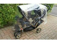 Graco Double Buggy/Pram With Raincover