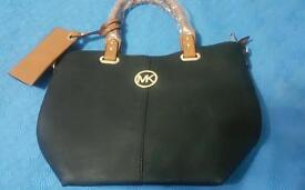 Mk bags 3 of black with brown straps