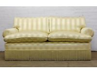 LUXURY DUDGEON CLASSICAL TWO SEAT SOFA IN GOLDEN STRIPES - FREE UK DELIVERY