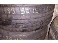 3x 195/50/15 used tyre