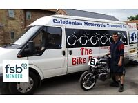 MOTORCYCLE TRANSPORT SERVICE - national, dedicated, specialist, bikes only. Fully insured.