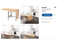 Ikea extendable Dining table and 4 Chairs