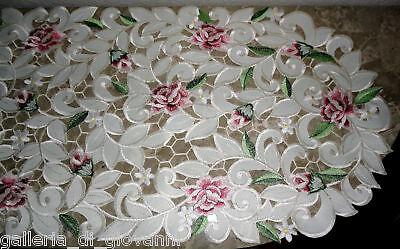 Dresser Scarf Royal Rose Lace Table Runner  34