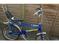 Original Raleigh Chopper Mark 3. (Striking Blue)