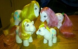Vintage my little pony family