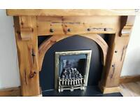 Stunning solid wood fire surround