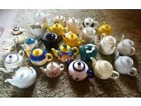 Job lot of 25 teapots for wedding or afternoon tea