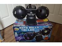 Roto balls tri led disco light