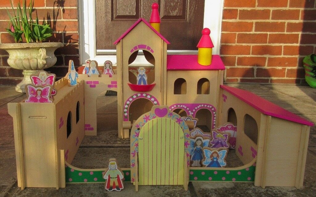 Beanstalk Wooden Fairy Castle with 13 characters & instructions Age 3+  68cmx53cm | in Newport | Gumtree
