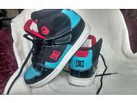 DC skate shoes USA hi tops