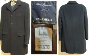 CARAMELO Spain Mens Wool Coat 40 42 M Charcoal Gray Hand-made Wool Medium Knee-length 100% wool Hand-made Made by hand