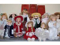 Christmas gift - Eleven Vintage Porcelain Alberon dolls – post or collect