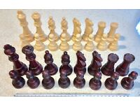 LARGE CHESS PLAYING PIECES (Kings approx 11.5 x 4.5 mm.)