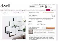 Dwell 3 shelf mirror