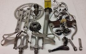 ZEUS 2000 ROAD or TIME TRIAL BIKE GROUPSET – RARE 1969 1970 PERIOD NON CAMPAGNOLO CLASSIC EQUIPMENT
