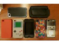 Iphone 4 and 4s covers and a leather case