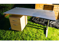 HOME STUDY OFFICE COMPUTER WORKSTATION DESK + 2x FILING CABINETS from £45