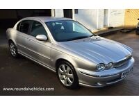 IMMACULATE 2004 54 PLATE Jaguar X type xtype 2.1 V6 SE Silver,black leather FSH, 12 months mot!