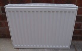 Small double radiator 600mm wide X 450mm deep.