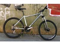 Adults unisex carrera vulcan 21 speed 18 inch frame 26 inch quick release wheels hybrid bike