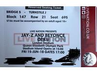 SOLD OUT TOUR - Jayz and Beyonce - London Stadium - Friday 15th June - Seated tickets