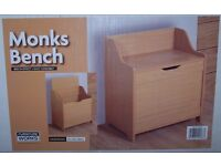 Monk Beach Storage Box, Toy Box, NEW UNOPENED. Wooden storage Box