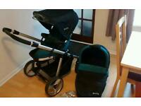Redkite Pram with carry cot and rain cover