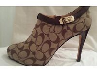 100% Genuine COACH Women Ankle Shoes, Heels, ankle boots