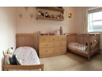 John Lewis Broadway Wooden Cot Bed / Junior Bed