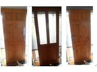 Various Pine Doors for Sale sizes suit 1930's house with Locks, Handles & Hinges