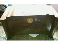 Antique Chinese Camphor wood hand carved chest