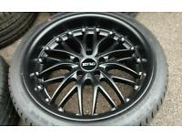 Brand new alloys with tyres 5x120 deep dish, staggered, bmw