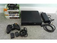Xbox 360 console with 10 x games